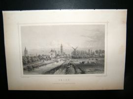 Holland Netherlands C1850's Antique Print.  Delft